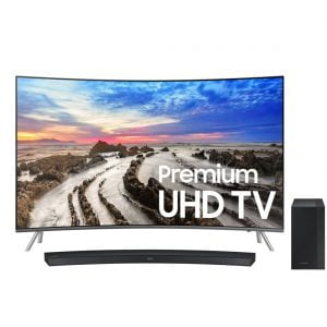 "Samsung UN55MU8500FXZC 55"" Curved 4K UHD TV w/ HW-M4500 Curved Soundbar with 6.5″ Wireless Subwoofer - Bundle"