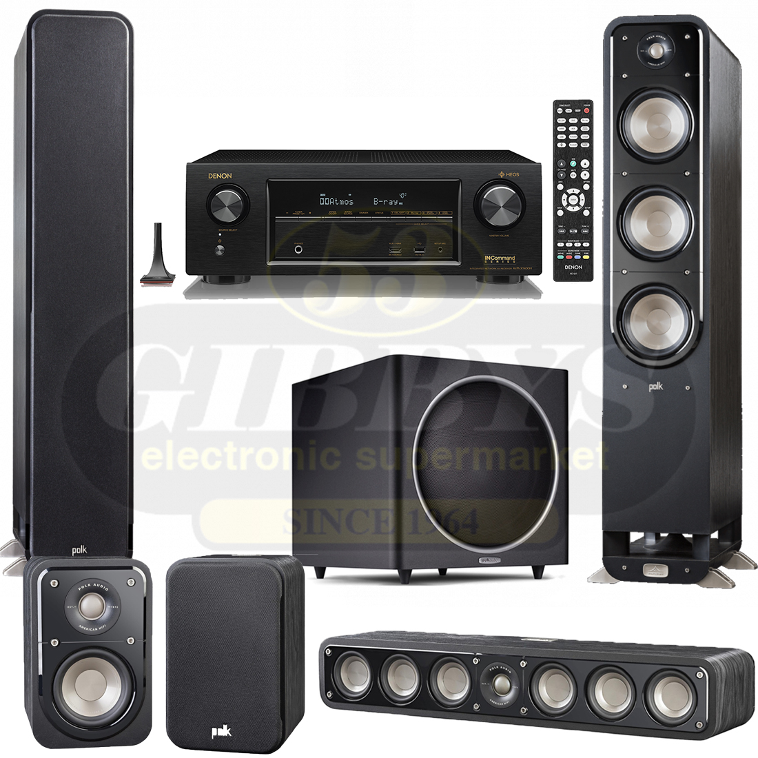 home theater tower speakers. denon avr-x1400h 7.2 ch in-command receiver \u2013 bundle home theater tower speakers