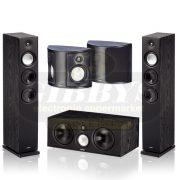 Paradigm Monitor 9 v7 Floor Standing Speakers, Black – Pair w/ Center 3 Black Center Channel and Surround 3 Surround/Rear Speaker - Bundle