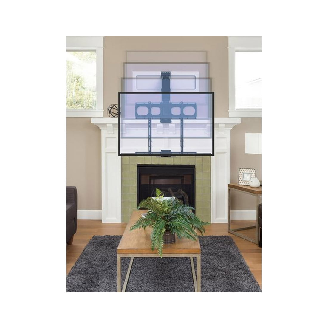 Mantelmount Mm540 Enhanced Pull Down Tv Mount # Meuble Tv Vertical