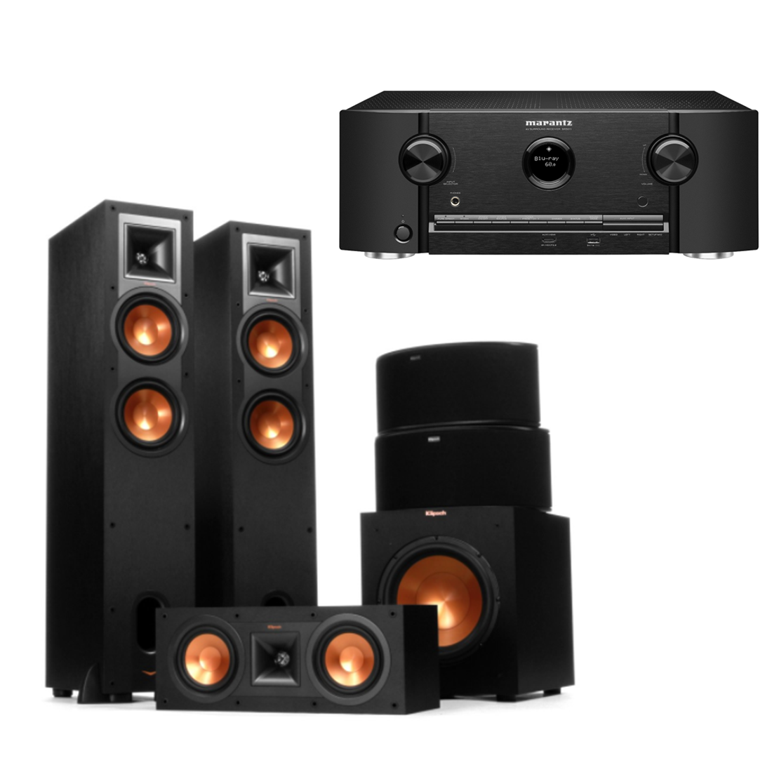Marantz Sr5011 B Stock Receiver W Klipsch R 26f Speakers R 25c  # Meuble Tv Double Face