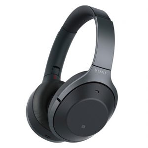 Sony WH1000XM2/B Black On-Ear Wireless Noise-Canceling Headphones