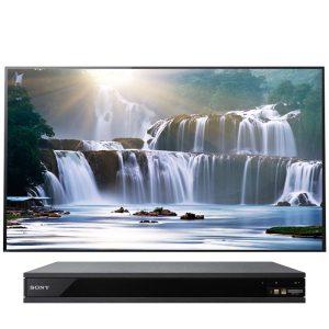 Sony XBR-55A1E Bravia OLED 4K Ultra HD High Dynamic Range HDR Smart TV and UBP-X800 4K Blu-Ray Player