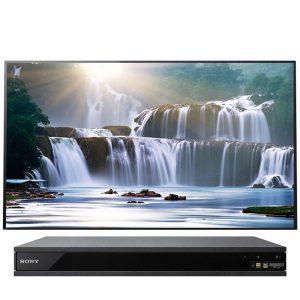 Sony XBR-77A1E Bravia OLED 4K Ultra HD High Dynamic Range HDR Smart TV and UBP-X800 4K Blu-Ray Player - Bundle