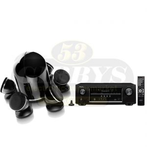 Denon AVR-S510BT B-Stock Receiver w/ Focal Dome Black 5.1 Pack with Dome Subwoofer - Bundle
