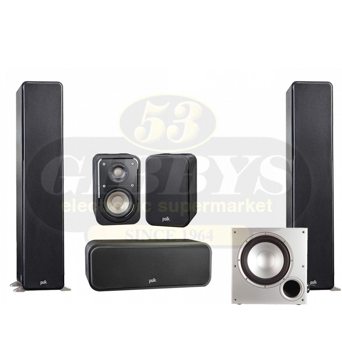 Polk Audio S50 Floor-standing Speakers w/ S30 Center ...