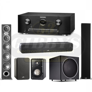 "Marantz SR5012 Home Theatre Receiver w/ Polk Audio RTiA9 Floor Standing Speakers w/ S35 Center channel w/ S20 Bookshelf Speakers and PSW125 12"" Subwoofer - Bundle"