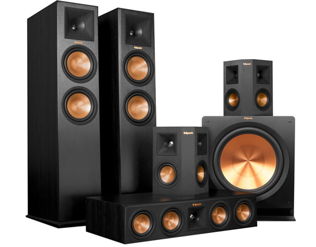 Klipsch RP-280F Floorstanding Speakers Klipsch RP-450C Center Speaker Klipsch RP-250S Surround Speakers and Klipsch R-115SW Subwoofer – Bundle