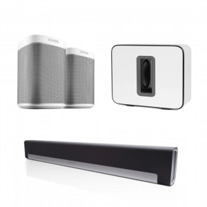 Sonos Play:1 White playbar sub bundle