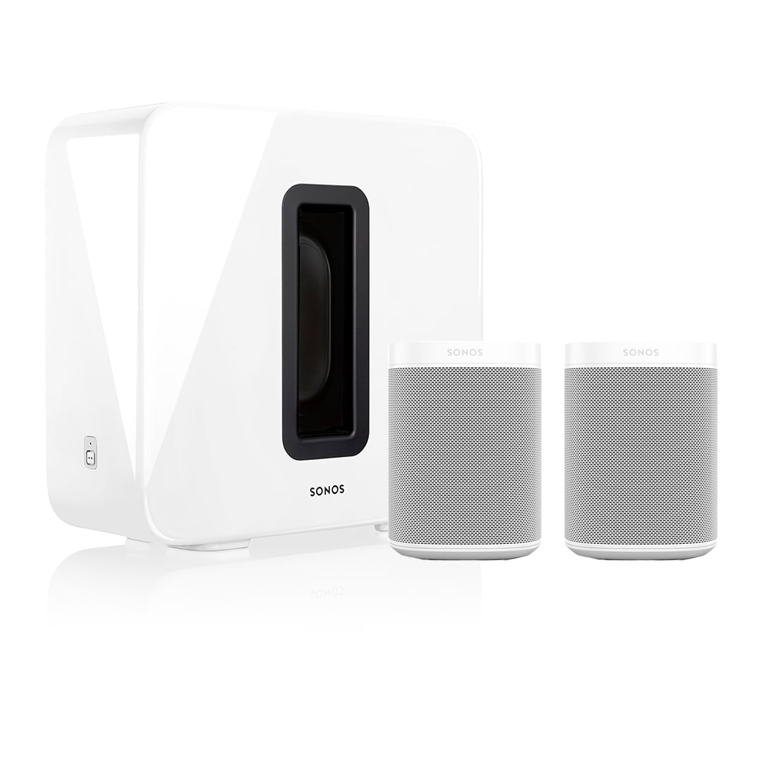 two Sonos one and sub Sonos ONE