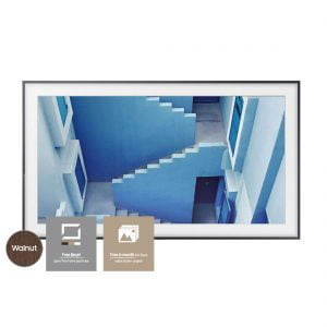 Samsung The Frame TV 55″ UN55LS003 Television Art Frame w/ Bonus VG-SCFM55DW Customizable Walnut Bezel and Art Store Subscription