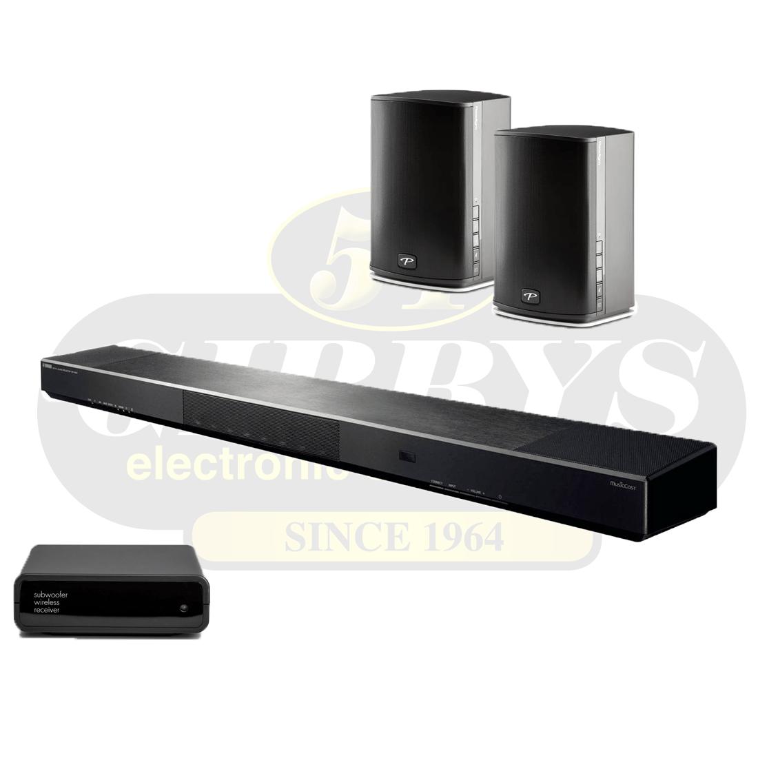 Paradigm Pw Soundbar 46 Pw 600 Wireless Stereo Speakers Black  # Meuble Tv Ultra Compact