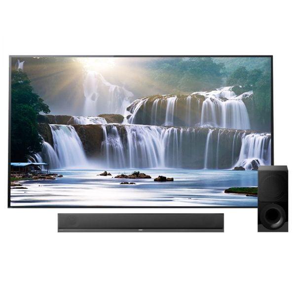 Sony XBR-77A1E Bravia OLED 4K Ultra HD High Dynamic Range HDR Smart TV w/ HT-ST5000 Wi-Fi/Bluetooth Soundbar - Bundle