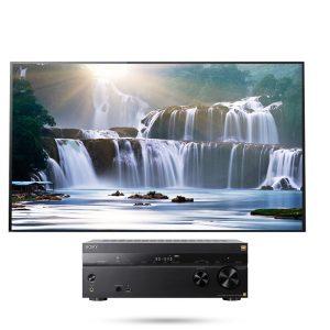Sony XBR-77A1E Bravia OLED 4K Ultra HD High Dynamic Range HDR Smart TV w/ STR-ZA810ES Wi-Fi Network AV Receiver - Bundle