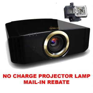 JVC DLA-RS540 4K HDR 3D Projector w/ FREE MAIL-IN REBATE PK-L2615U Replacement Projector Lamp