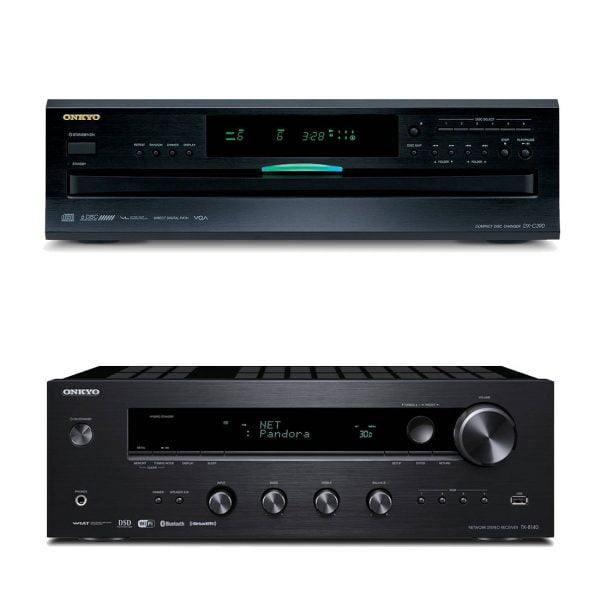 Onkyo TX-8140 B-Stock Network Stereo Receiver and Onkyo DX-C390 6-Disc Carousel CD Player - B-Stock