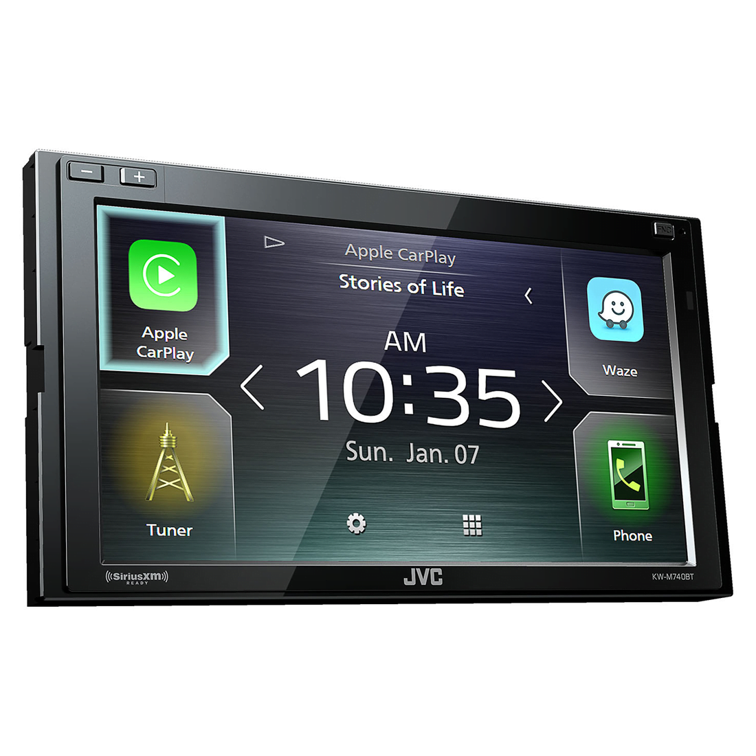 jvc kw m740bt 2 din av receiver w bluetooth. Black Bedroom Furniture Sets. Home Design Ideas