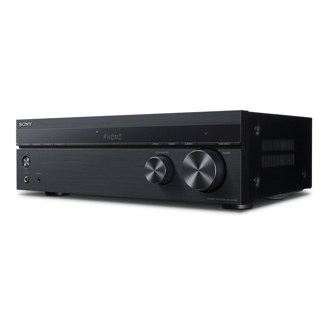 sony str dh190 stereo receiver w phono bluetooth. Black Bedroom Furniture Sets. Home Design Ideas