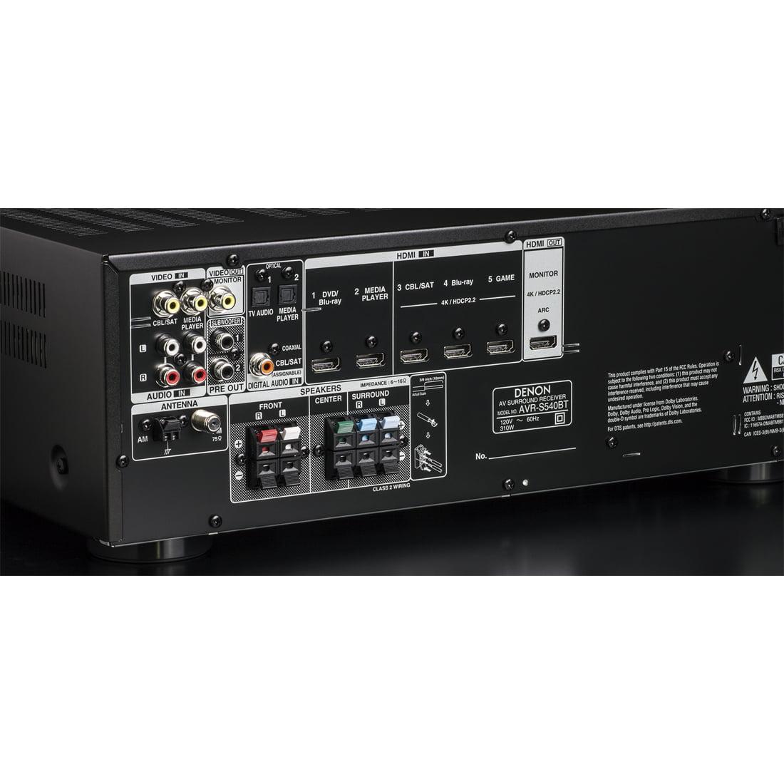 Denon AVR-S540BT 5 2 Channel 4K Ultra HD AV Receiver