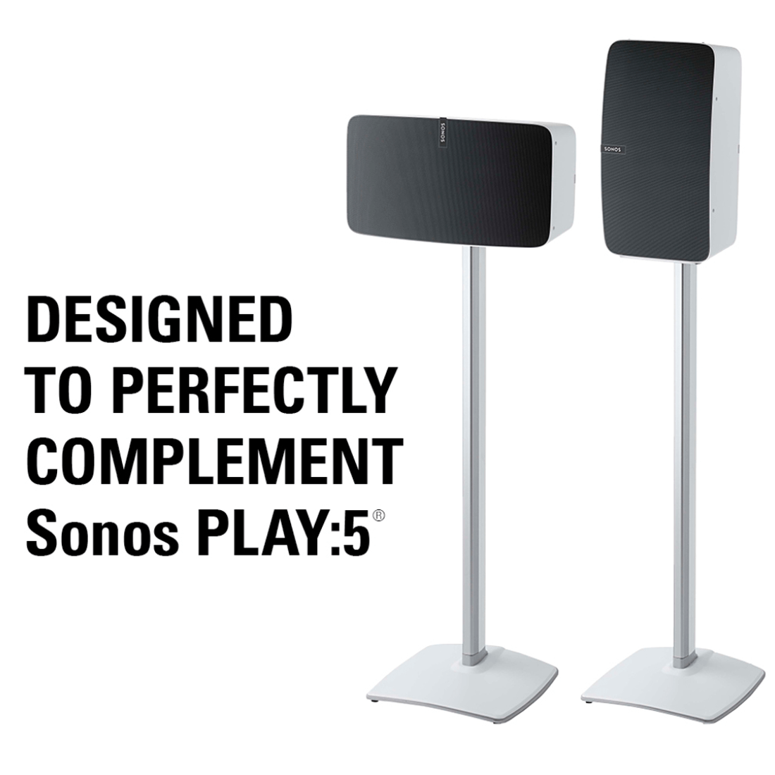 sanus wss   speaker stand  sonos play white
