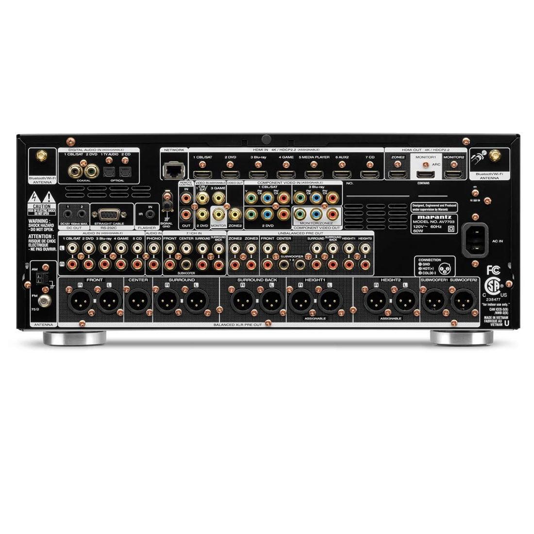 Marantz AV7705 11 2-Ch  4k Ultra Hd Surround Preamplifier