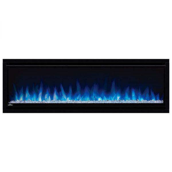 Napoleon AlluraVision 50 inch Deep Wall Mounted Electric Fireplace NEFL50CHD blue