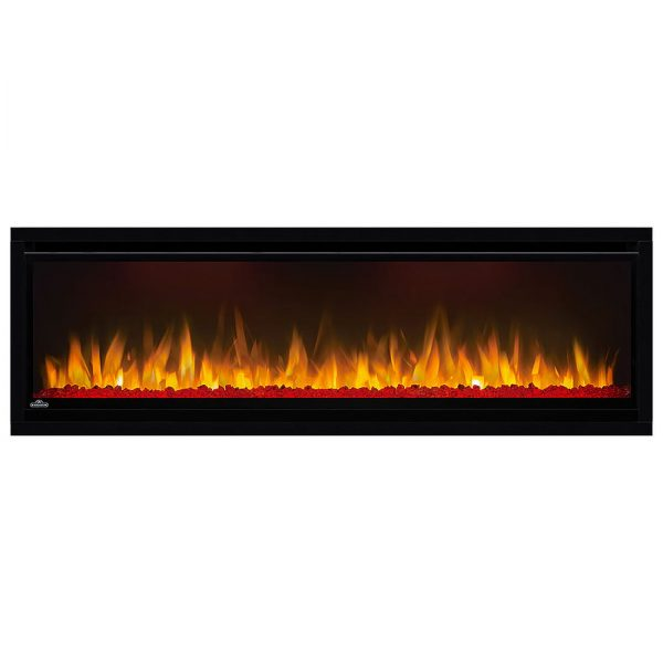 Napoleon AlluraVision 50 inch Deep Wall Mounted Electric Fireplace NEFL50CHD red