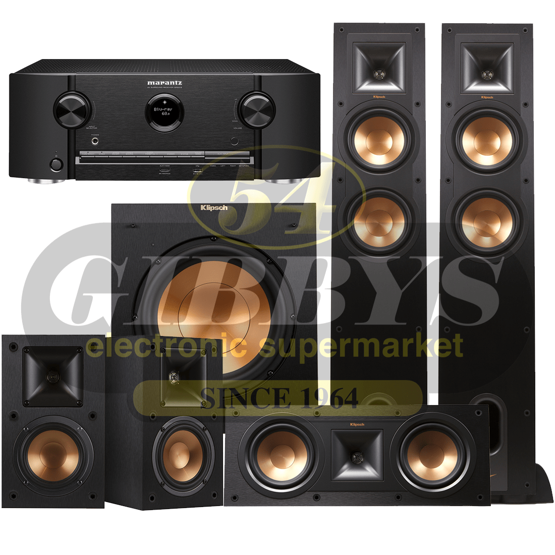 Marantz SR5012 B-Stock with Klipsch R-26F Speaker Bundle #2