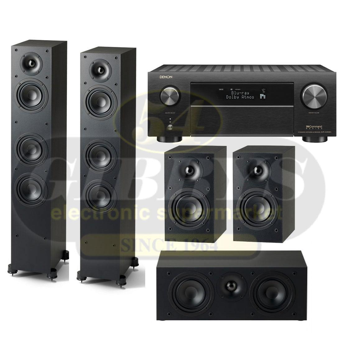 Denon AVR-X4500H 9 2-Channel Network A/V Receiver | Paradigm Monitor SE 5 0  Speaker Bundle 3