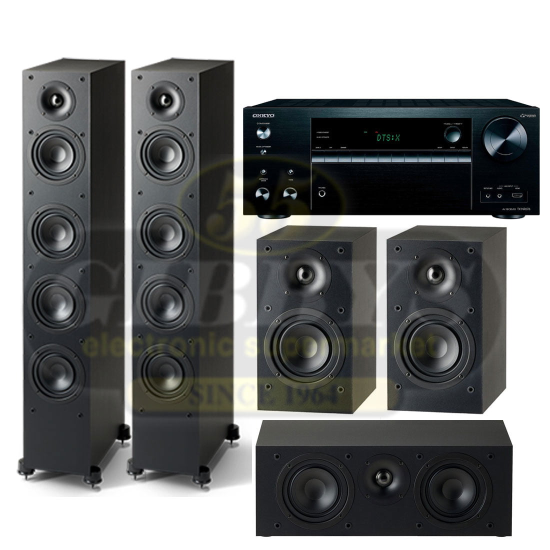 Onkyo TX-NR676 B-Stock with Paradigm Monitor SE 5 0 Speaker Package 9