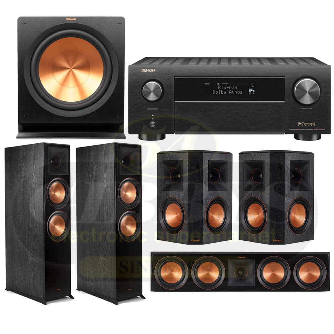 Denon AVR-X4500H 9 2-Channel Network A/V Receiver | Klipsch RP-8060FAB  Reference Premiere 5 1 Speaker Bundle #2