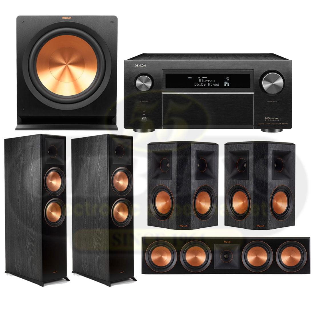 Denon AVR-X8500H 13 2 Channel 4K AV Receiver | Klipsch RP-8060FAB Reference  Premiere 5 1 Speaker Bundle #2