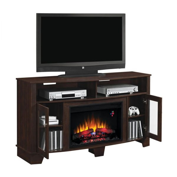 Bello LASALEMATL TV Stand Fireplace Console Lifestyle