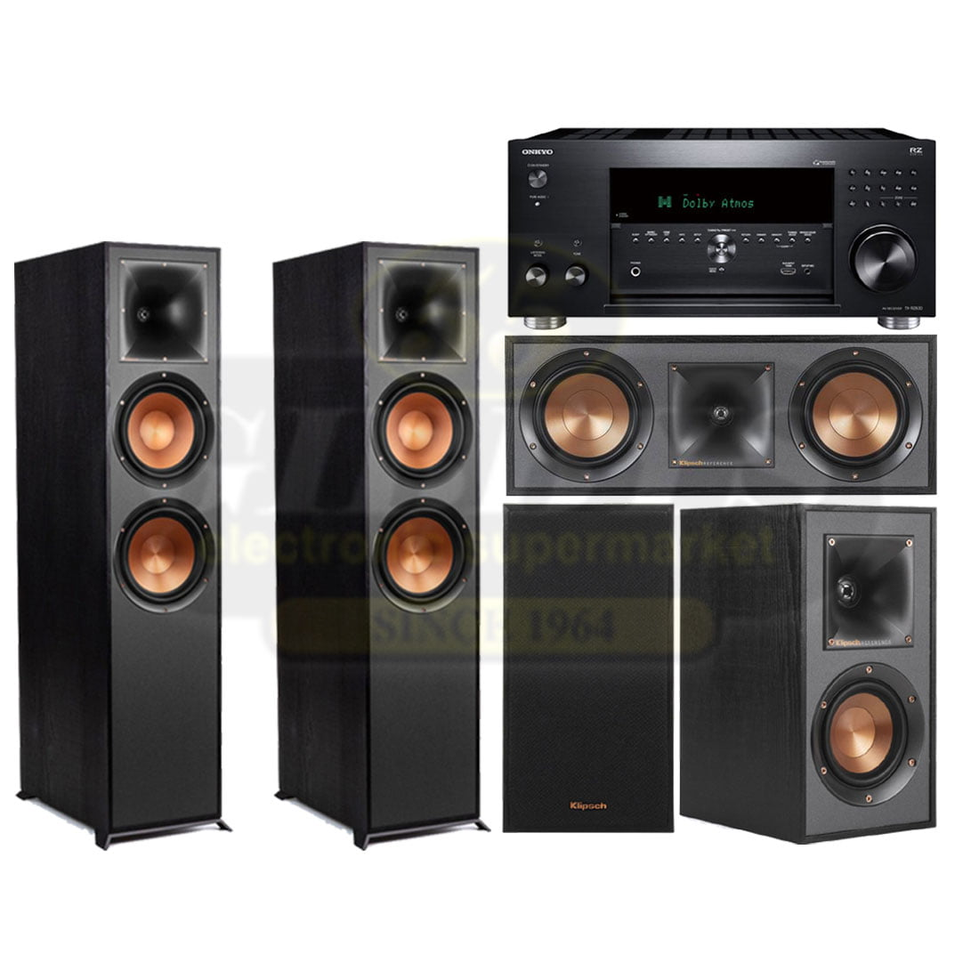 Onkyo TX-RZ830 | Klipsch R-820FB Reference 5 0 Speaker Bundle #1