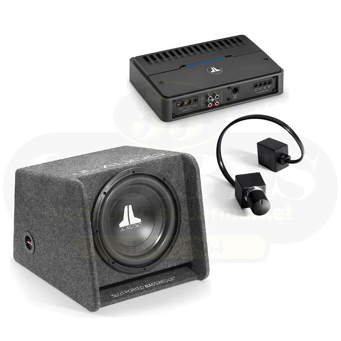 JL Audio CP112-W0v3 12″Subwoofer | JL Audio RD500/1 Mono Subwoofer  Amplifier | RBC-1 Car Audio Bass Remote Control – Bundle - #98618 | #98015  |