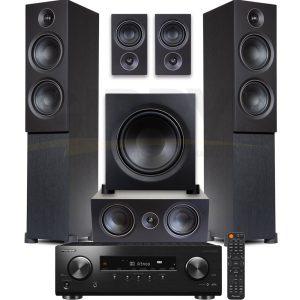 Pioneer VSX-834.PSB Alpha T20 Series 5.1 Speaker Bundle #3 – Black Ash