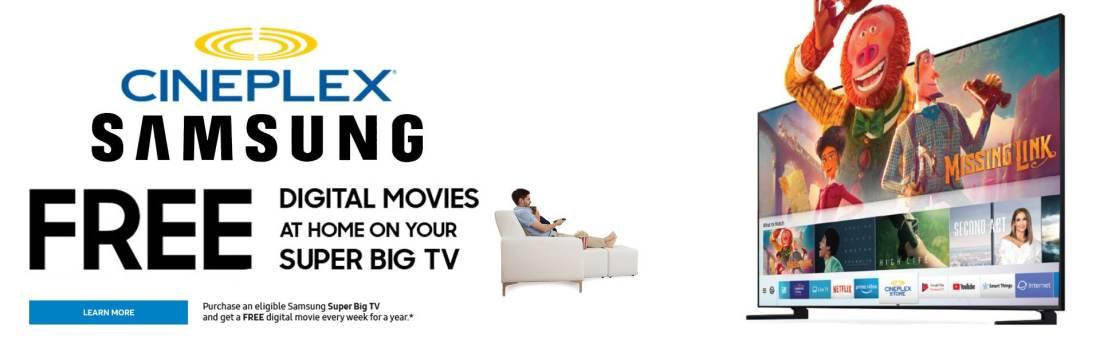 Samsung Free Digital Movies On Super Big Tv