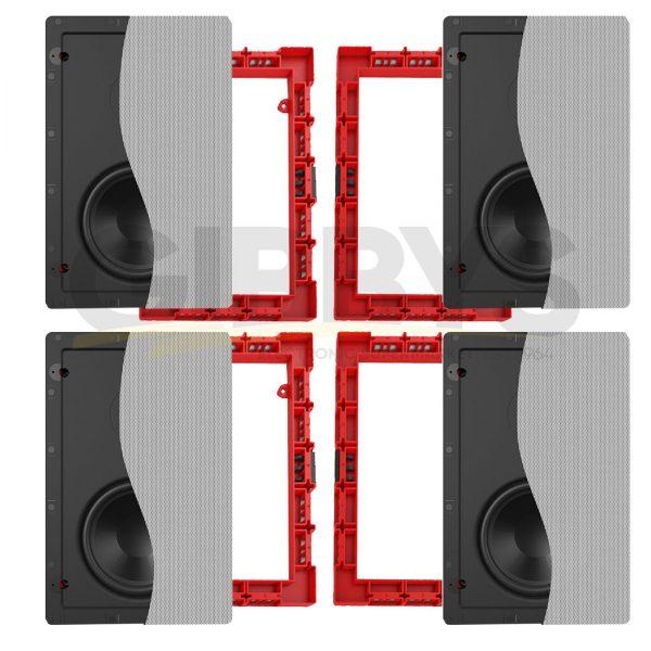 """Klipsch CS-16W 6.5"""" In-Ceiling Speaker x4 with Installation Bracket x4"""