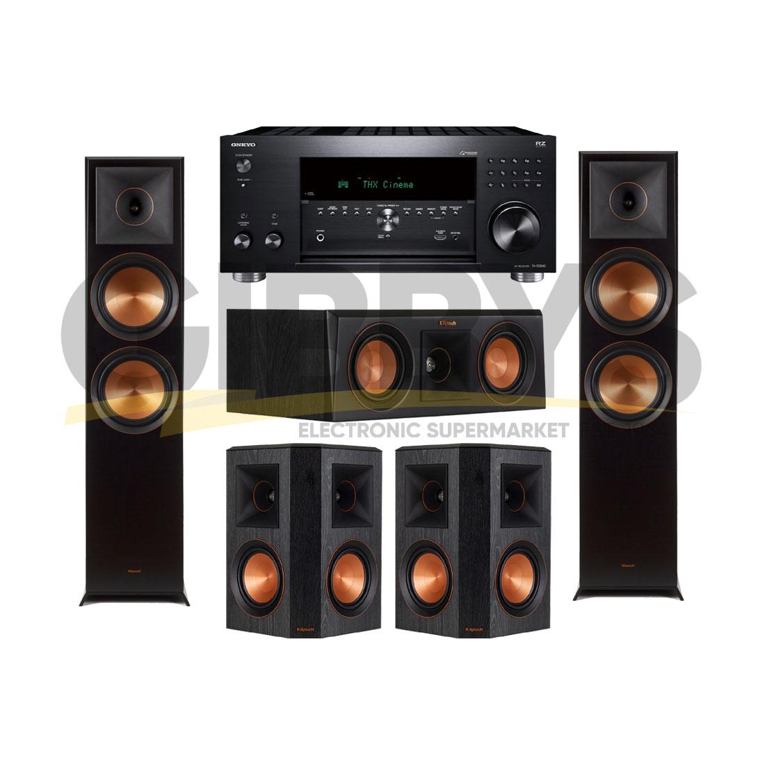 Onkyo TXRZ840 | Klipsch RP-6000FB Reference Premiere 5 0 Speaker Bundle #13
