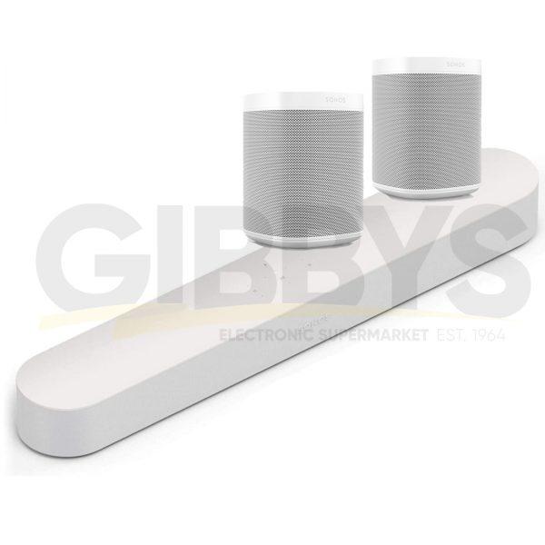 Sonos Beam 5.0 Surround Set - White