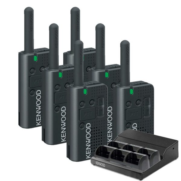 Kenwood PKT-23LFP Angle 6 Pack and Charger