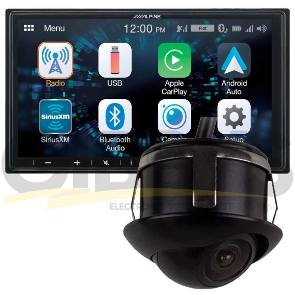 "Alpine ILX-W650 7"" Mechless Receiver   iBEAM TE-RRSC Smaller Eyeball Style Back-Up Camera Bundle"