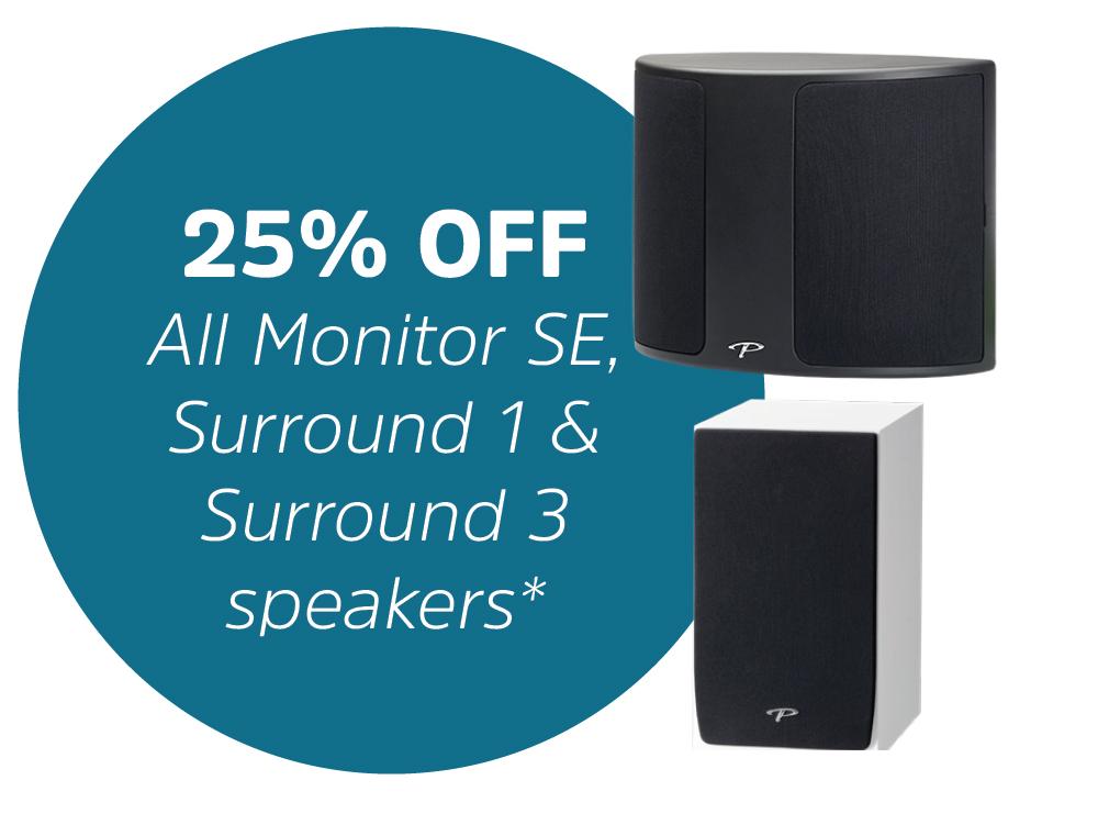 Save 3 Ways Paradigm Monitor SE + Surround