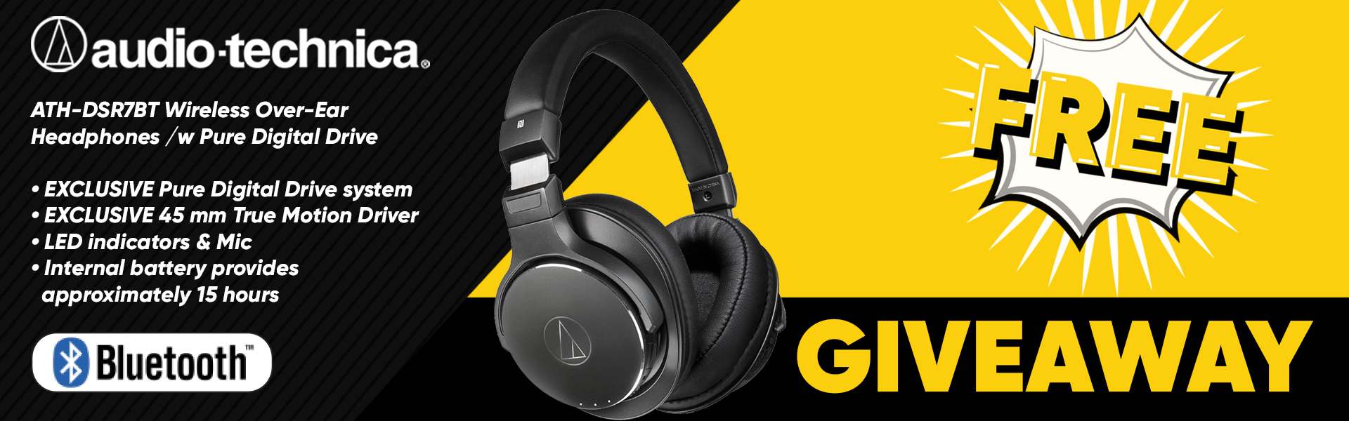 Landing PageAudio-Technica Headphones Giveaway