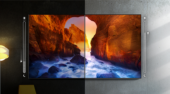 Samsung 8k - Surroundings change, picture stays perfect