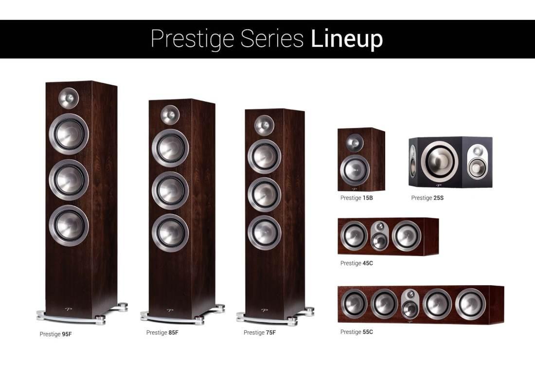 Paradigm Prestige Walnut Lineup