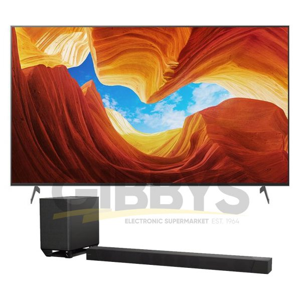 Sony XBR-65X900H 65 4K Ultra HD Full Array HDR LED TV Sony HT-ST5000 7.1.2 Dolby Atmos Soundbar Bundle