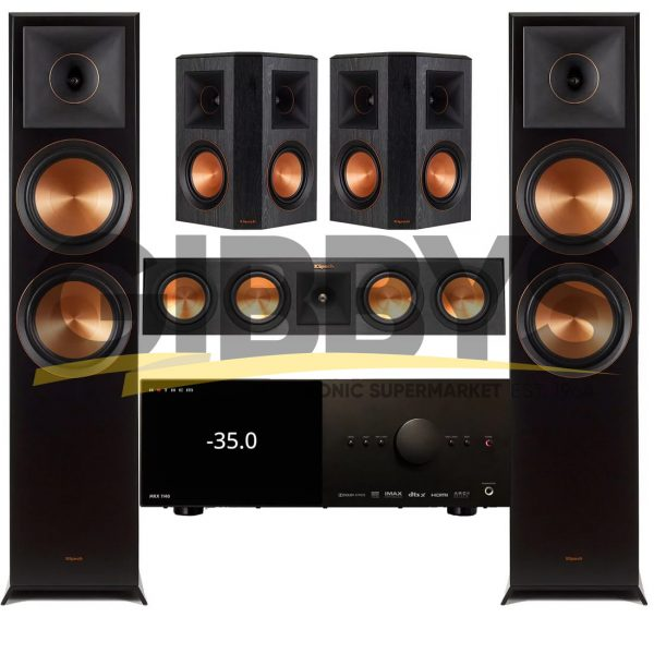 Anthem MRX 1140 AV Receiver Klipsch RP-450CB Reference Premiere 5.0 Speaker Bundle # 9