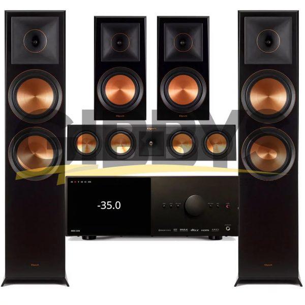Anthem MRX 540 A/V Receiver   Klipsch RP-450CB Reference Premiere 5.0 Speaker Bundle # 4