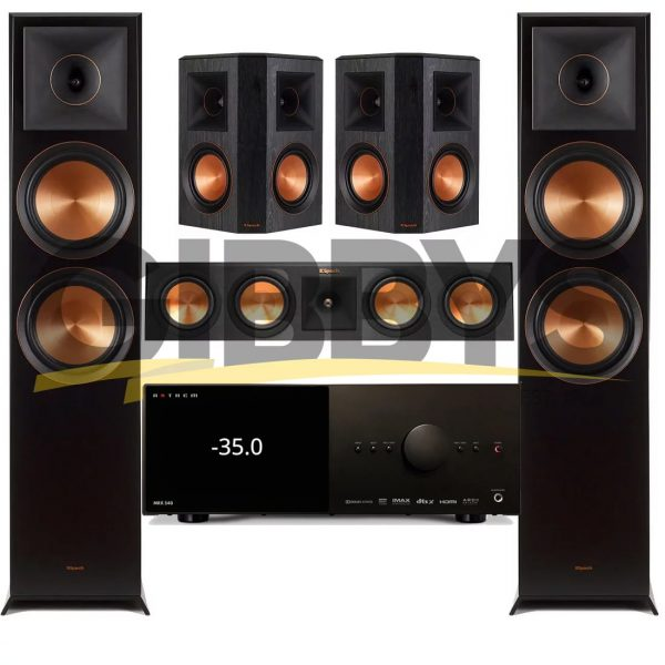 Anthem MRX 540 A/V Receiver | Klipsch RP-450CB Reference Premiere 5.0 Speaker Bundle # 9